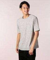 GLOSTER/メランジパイルTシャツ/501160585