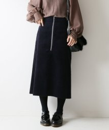 Spick & Span/フトコール フロントZIPスカート◆/501161330