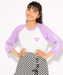 PINK-latte/ラグラン Tシャツ/501161564