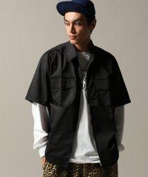 JOURNAL STANDARD/THE YOUTHLESS FULL ZIPショートスリーブワークシャツ/501162270