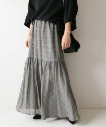 Spick & Span/ガーゼチェックティアギャザースカート◆/501162271