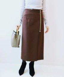 NOBLE/PE/RY/W ジップタイトスカート◆/501162405