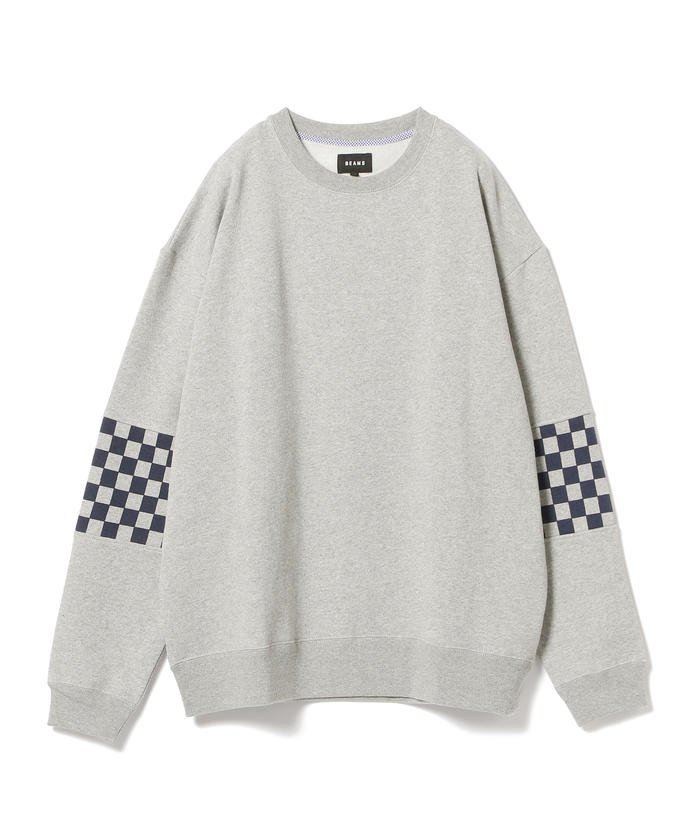 【50%OFF】 ビームス アウトレット BEAMS / チェッカー スイッチ スウェット メンズ TOPGREY S 【BEAMS OUTLET】 【セール開催中】