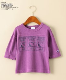 green label relaxing (Kids)/〔別注〕CHAMPION(チャンピオン)7スリーブTシャツ /PEANUTS/501144408