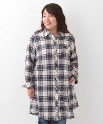 eur3/【大きいサイズ】チェックシャツチュニック/501162711