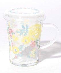 Afternoon Tea LIVING/水彩フラワー柄フィルター付き耐熱ガラスマグカップ/501137519