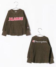 XLARGE KIDS/チャンピオンコラボ ロゴワッフルTシャツ/501147057