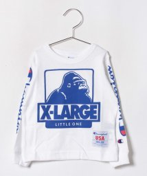 XLARGE KIDS/チャンピオンコラボ サイドロゴラインTシャツ/501147058