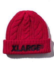XLARGE KIDS/ロゴ ケーブルニットキャップ/501147060