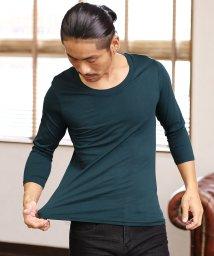 JIGGYS SHOP/コットン Uネック 7分袖Tシャツ / カットソー メンズ/501165000