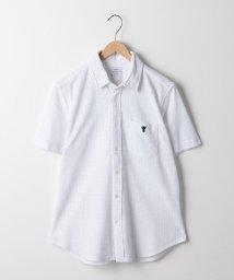 coen/ドット鹿の子ショートスリーブシャツ/501146969