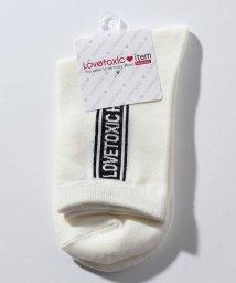 Lovetoxic/BOXロゴクルーソックス/501158663