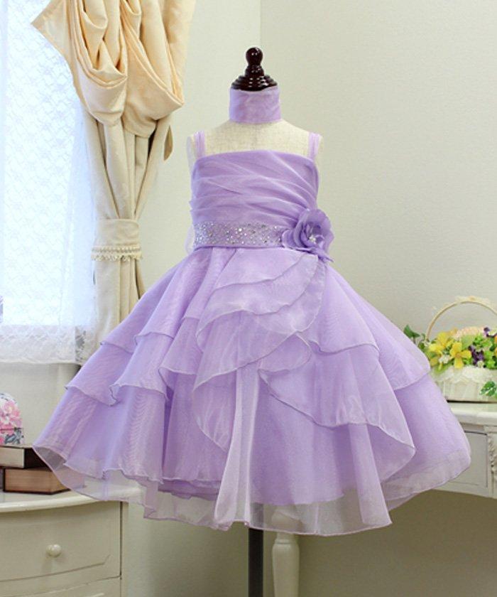 fd8e49ea76458 リトルプリンセス 子供ドレス 001023 レディース ライラック 130cm  Little Princess