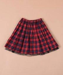 SHIPS KIDS/SHIPS KIDS:チェック×チュール スカート(140~150cm)/501165402