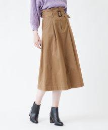 titivate/ウエストベルト付きロングスカート/501165766