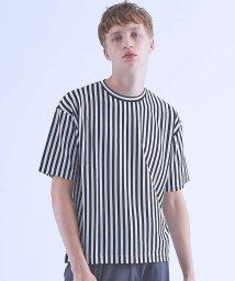 ABAHOUSE/ストライプオーバーサイズTシャツ/501166263