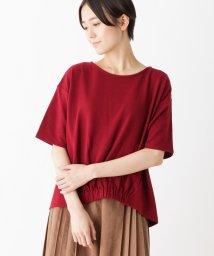 pink adobe/リップル素材 裾ゴム カットソー/501166382