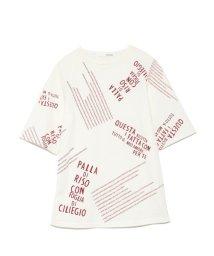 styling//Font print tee shirt/501159346