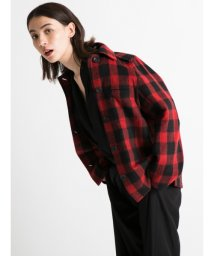 styling//Block check blouson/501159382