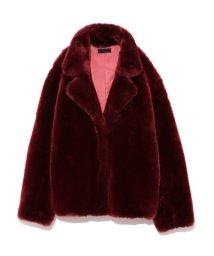 styling//Tailored ecofur coat/501159398