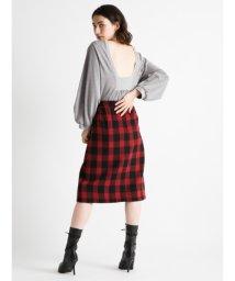 styling//Block check skirt/501159498