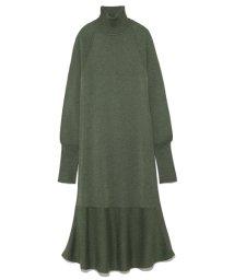 styling//Hem flared knit onepiece/501159547