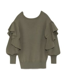 styling//Ruffle sleeve pullover/501159554
