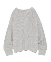 styling//Back slit knit pullover/501159562