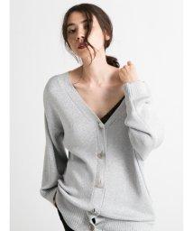 styling//Lame knit cardigan/501159568