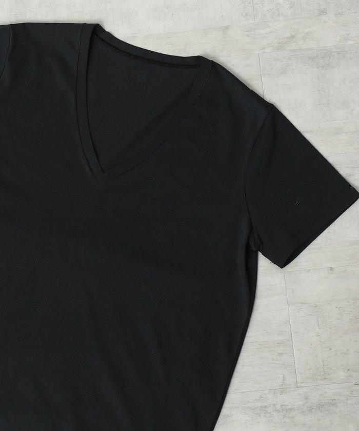 ロペVネック半そでTシャツレディースブラック(01)38【ROPE'】