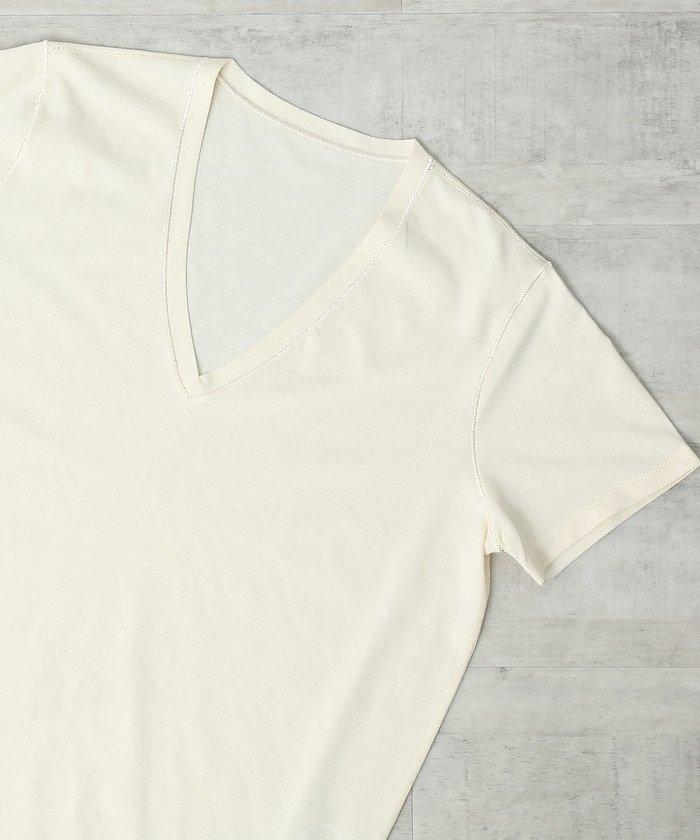 ロペVネック半そでTシャツレディースホワイト(10)38【ROPE'】