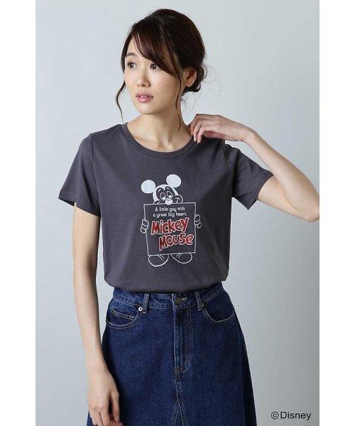 NATURAL BEAUTY BASIC(ナチュラル ビューティー ベーシック)/Disneyコレクション・ミッキーTシャツ/0178263871