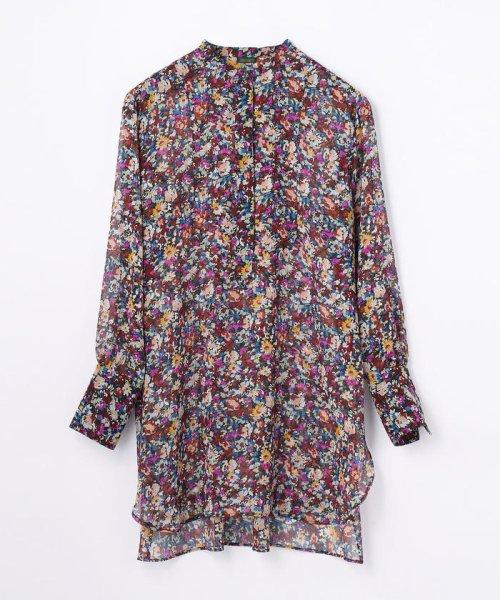 SOULEIADO(SOULEIADO)/ポリエステルプリント ドレスシャツ/75018401101
