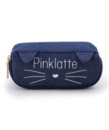 PINK-latte/ラウンドジップネコポーチ/501170337