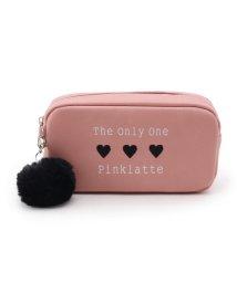 PINK-latte/ポンポンチャームハートポーチ/501170340