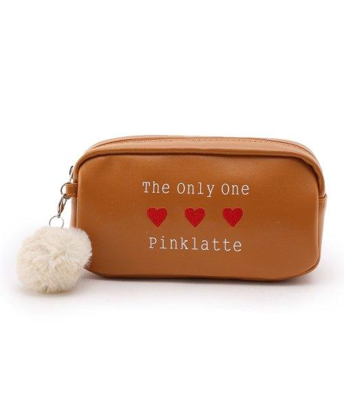 PINK-latte(ピンク ラテ)/ポンポンチャームハートポーチ/99990932011262