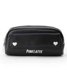 PINK-latte/ダブルハート スクエアポーチ/501170347