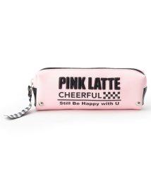 PINK-latte/スタッズロゴポーチ/501170348