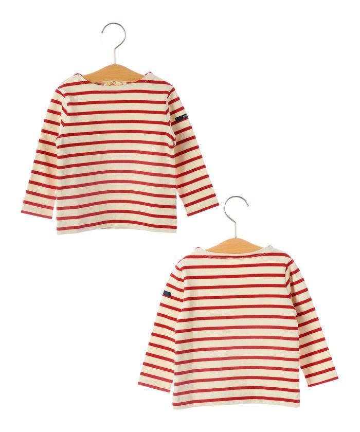 SHIPS KIDS:マリン ボーダー ボートネック バスクシャツ(80〜90cm)