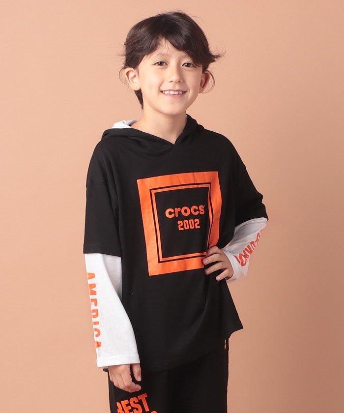 CROCSレイヤード風ロングTシャツ