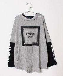 crocs(KIDS WEAR)/CROCSレイヤード風ロングTシャツ/501157610