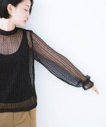 haco!/重ね着にも便利な伸びる女っぽレーストップス/501169554
