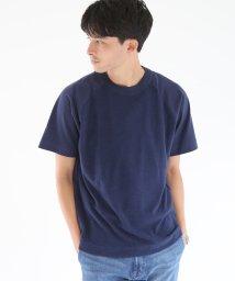 coen/天竺×パイル切替クルーネックTシャツ/501165632