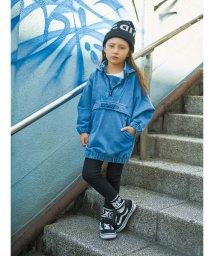 X-girl Stages/スランテッドロゴ フードスウェットワンピース/501165899