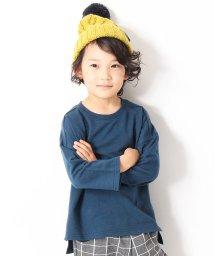 devirock/スリット入りミニ裏毛7分袖Tシャツ カットソー/501166922