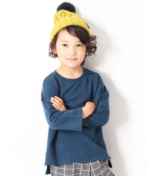 devirock(デビロック)/スリット入りミニ裏毛7分袖Tシャツ/DT0005