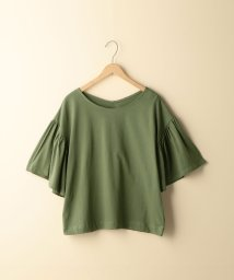 coen/【2WAY】オーガニックコットンフレアスリーブTシャツ/501168002