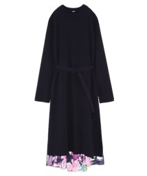 Mila Owen/花柄スカート付ニットワンピース/501179219