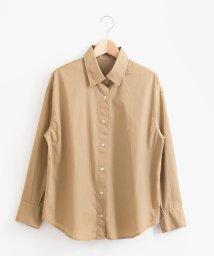 le.coeur blanc/タイプライター2wayビッグシャツ/501051477