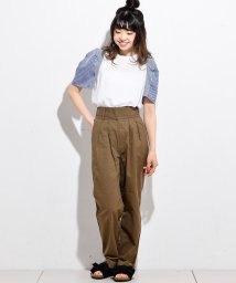 NICE CLAUP OUTLET/袖ギンガムトップス/501167417